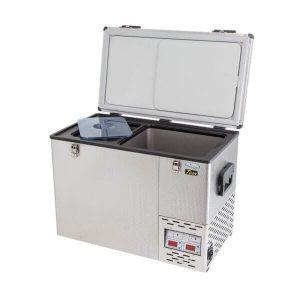National Luna Fridge Freezer 60L Twin Stainless Steel