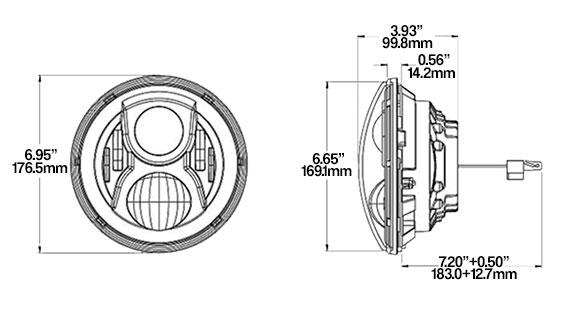 STEDI 7 inch iris LED headlight 4x4 mods