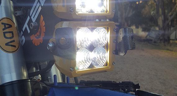 C4 Flood LED Light Yamaha Install