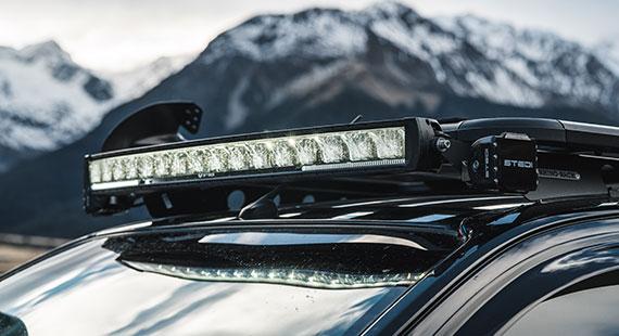 STEDI ST2K Curved LED Light Bar Holden Colorado Snow