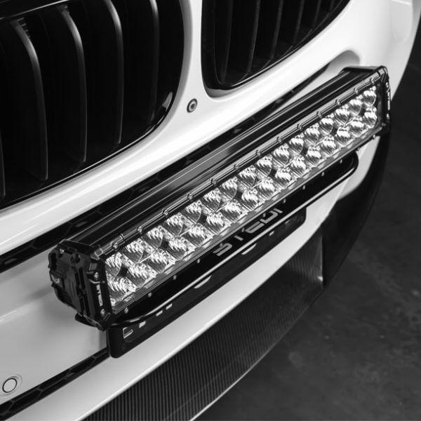 number plat light bar mount close up