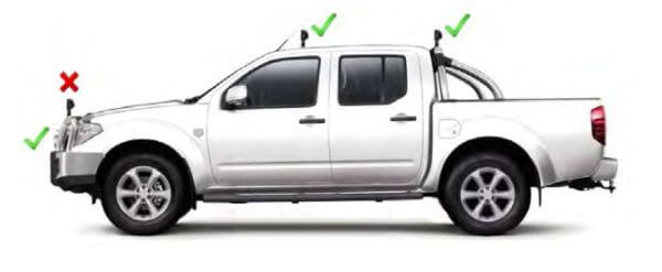 light bar wa laws for mounting positions