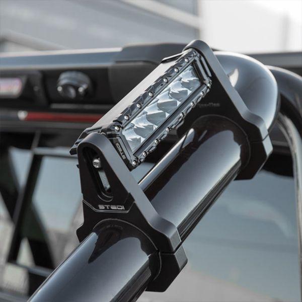 led light bar mounts on roll bar