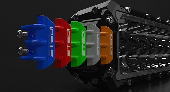 STEDI ST3303 PRO 28.2 Inch LED Light Bar Coloured End Caps