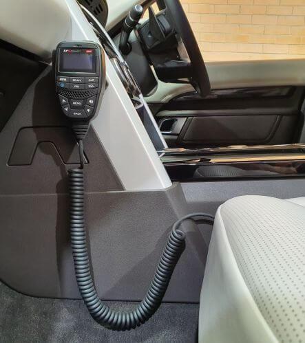 GME XRS370c UHF radio mounted