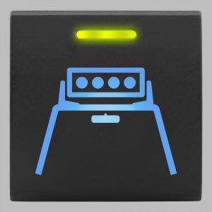 STEDI Square Type Push Switch Roof Light Bar