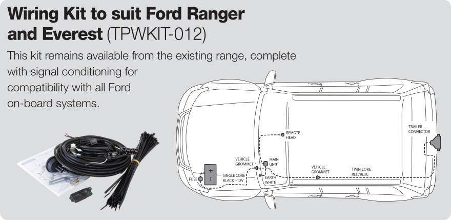 Redarc Electric Brake Controller Wiring Kit for Ford Ranger