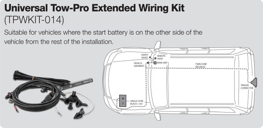 Extended Electric Brake Controller Wiring Kit