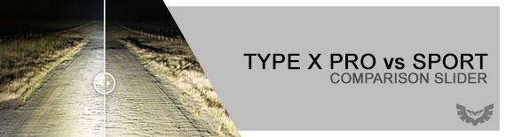STEDI Type X Pro vs Sport Comparison Slider